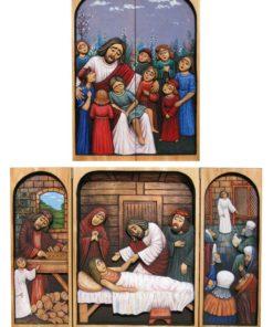 Jezus i dzieci - tryptyk