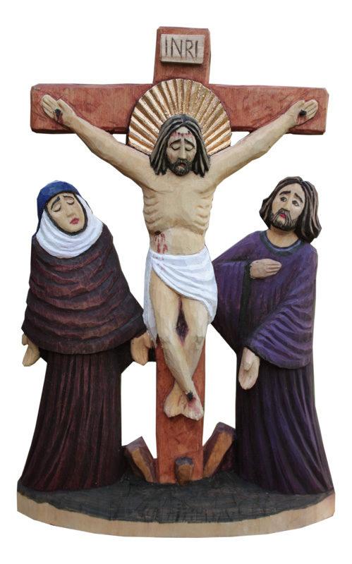 Maria i Jan pod krzyżem